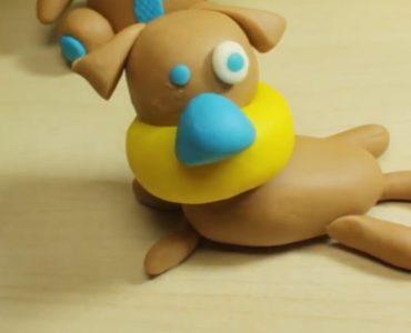 chien en pâte à modeler