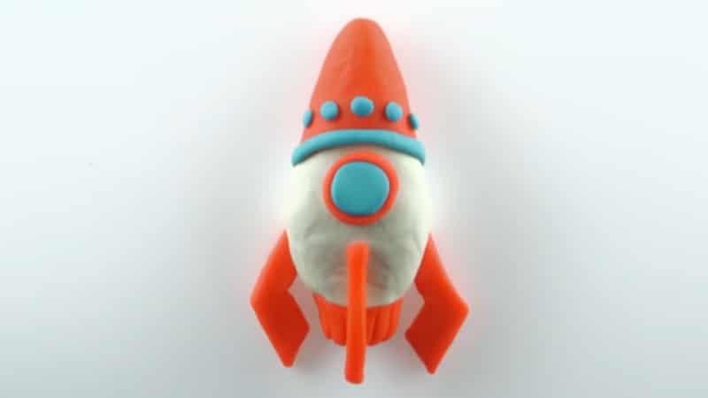 fusée en pâte à modeler