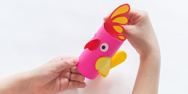 oiseau rouleau de papier toilette