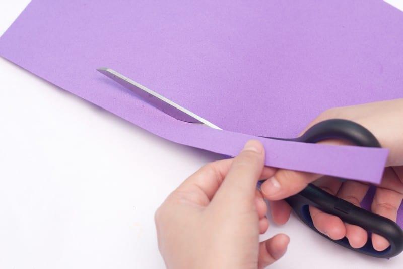 papier mousse violet