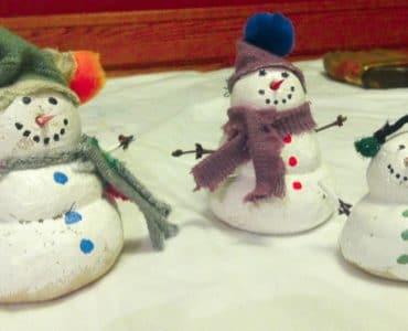 bonhomme de neige en pâte à sel