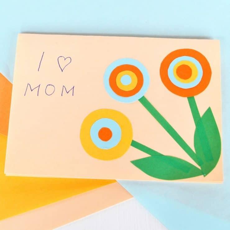 carte fleur fête des mères