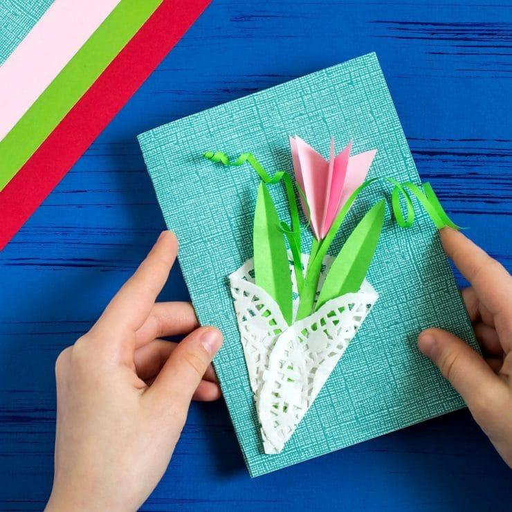 bricolage carte fleur