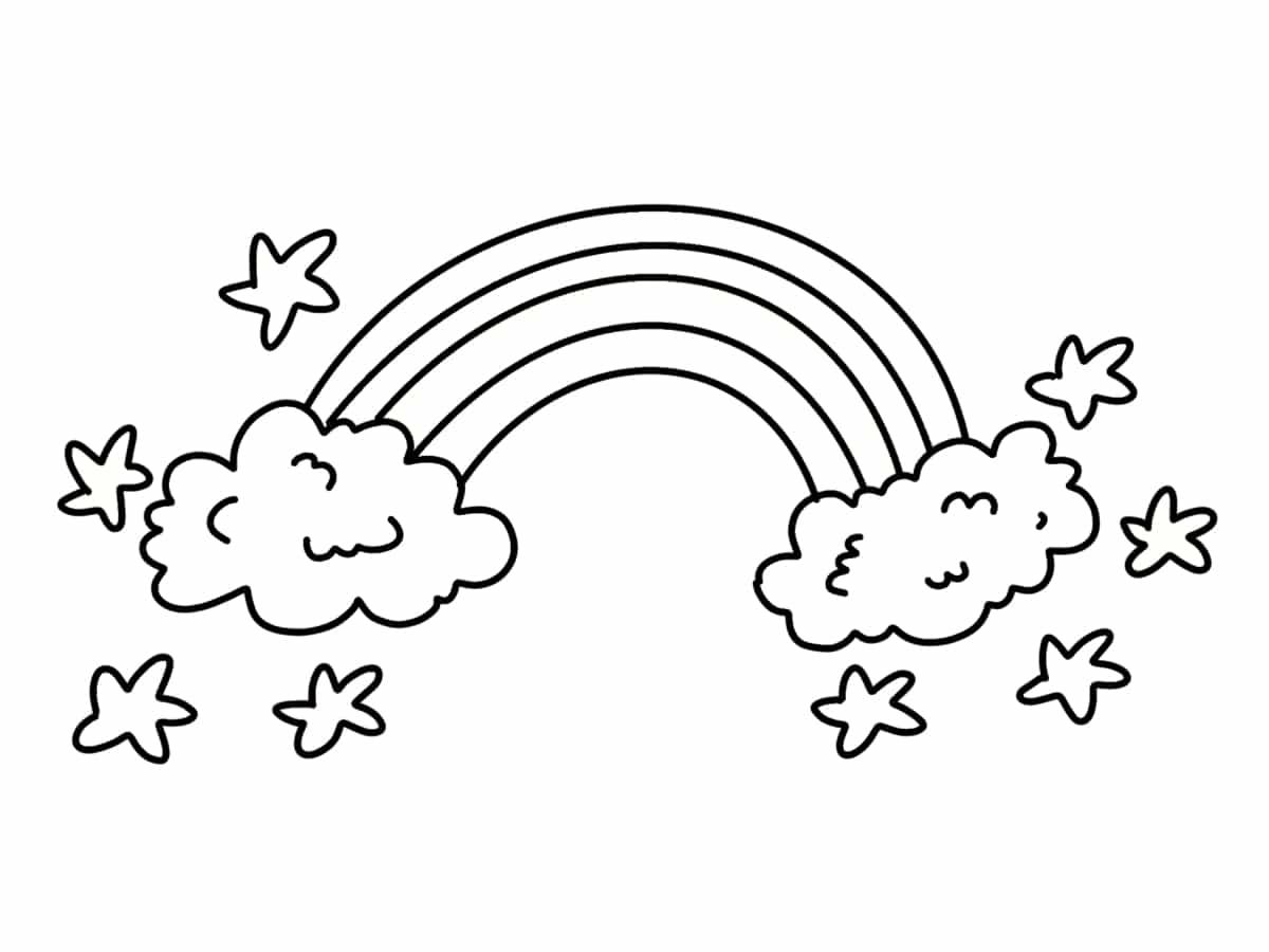 Coloriage Arc En Ciel 20 Dessins A Imprimer Gratuitement