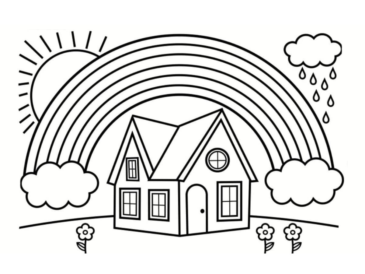 Coloriage arc-en-ciel : 20 dessins à imprimer gratuitement