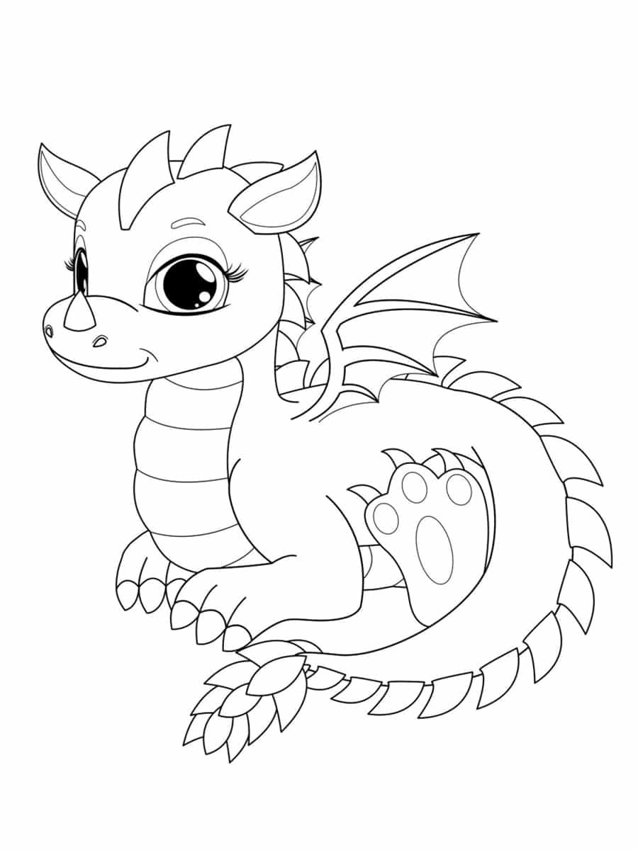 imprimer Dragon Coloriage Aperçu - Lesgenissesdanslmais