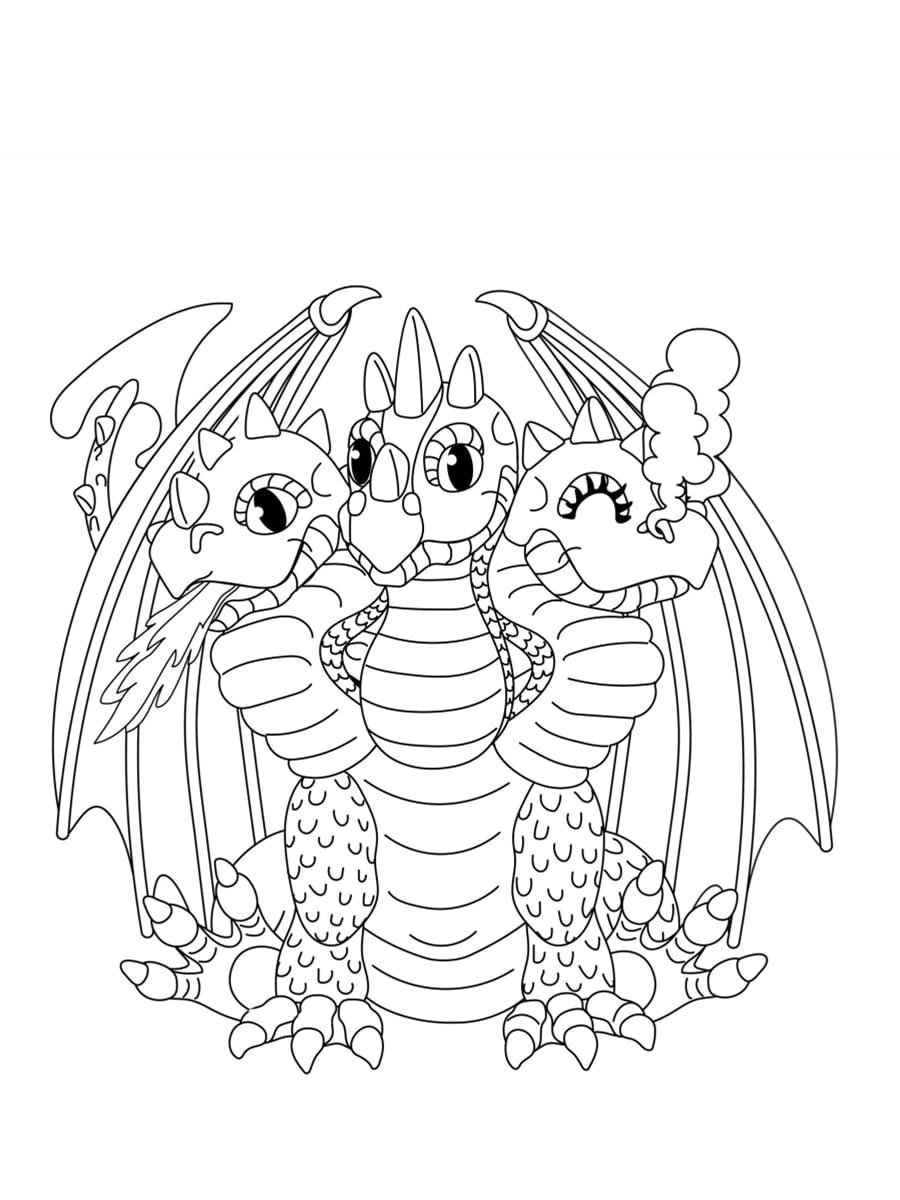 Coloriage dragon  32 dessins à imprimer gratuitement