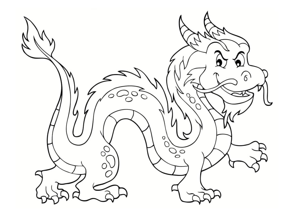 Coloriage dragon : 40 dessins à imprimer gratuitement