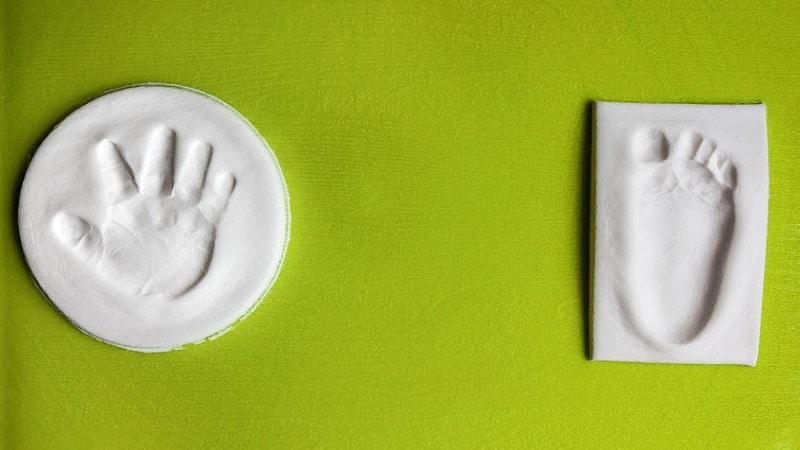 empreintes bébé pâte à sel