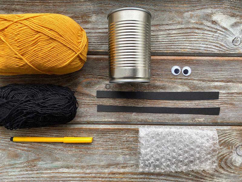 matériel pot à crayon boite de conserve