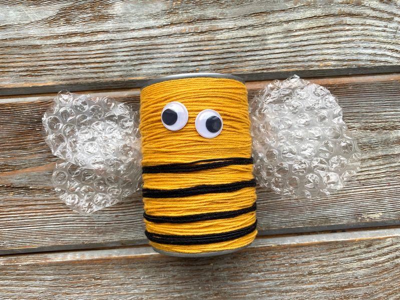 pot à crayon conserve abeille