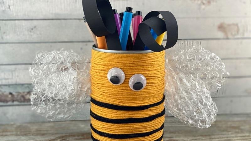 Faire un pot à crayon avec une boite de conserve