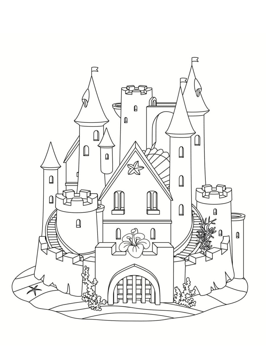 Coloriage Chateau De Sable Des Dessins A Imprimer Gratuitement