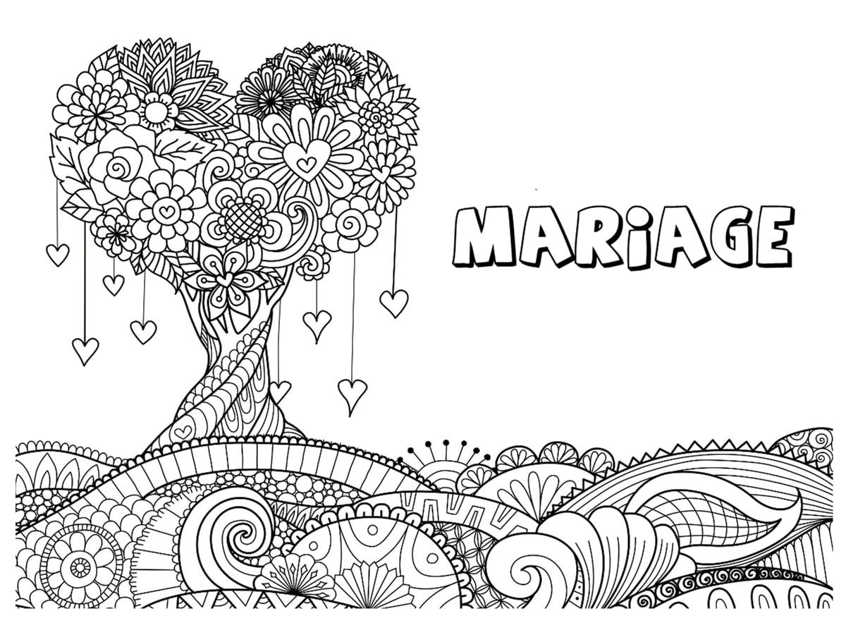 Coloriage Mariage 30 Dessins A Imprimer Gratuitement