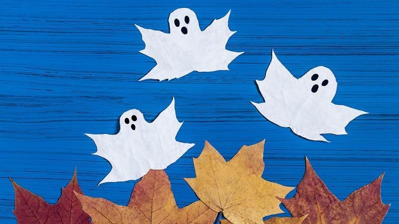 bricolage halloween avec des feuilles