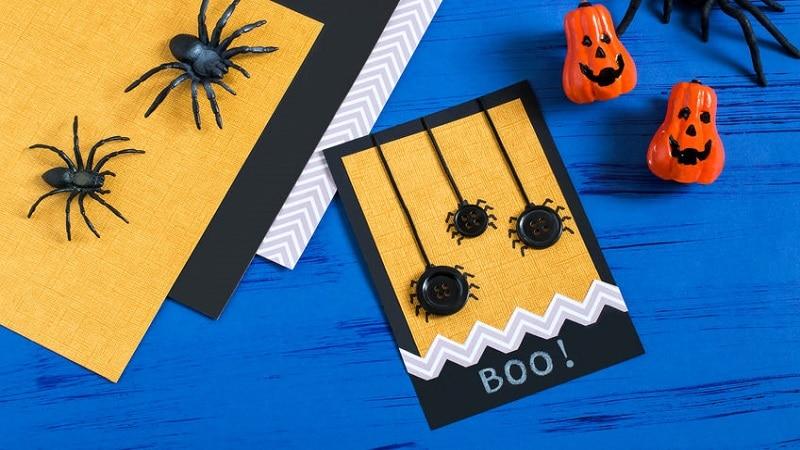 carte d'halloween  fabriquer