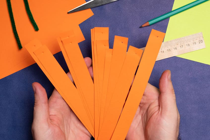 bricolage citrouille papier