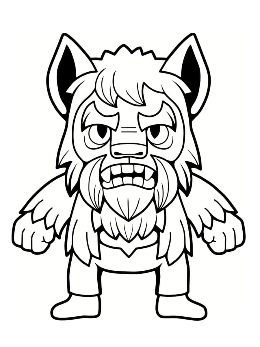 dessin de loup garou