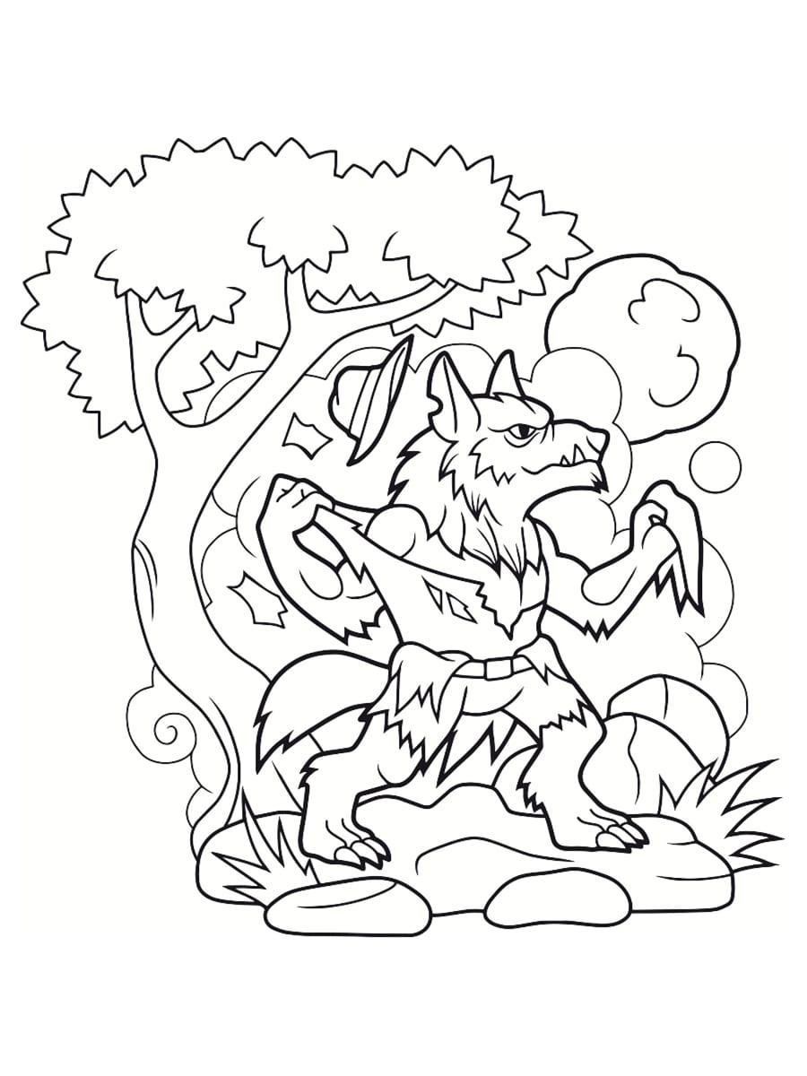 coloriages de loup garou