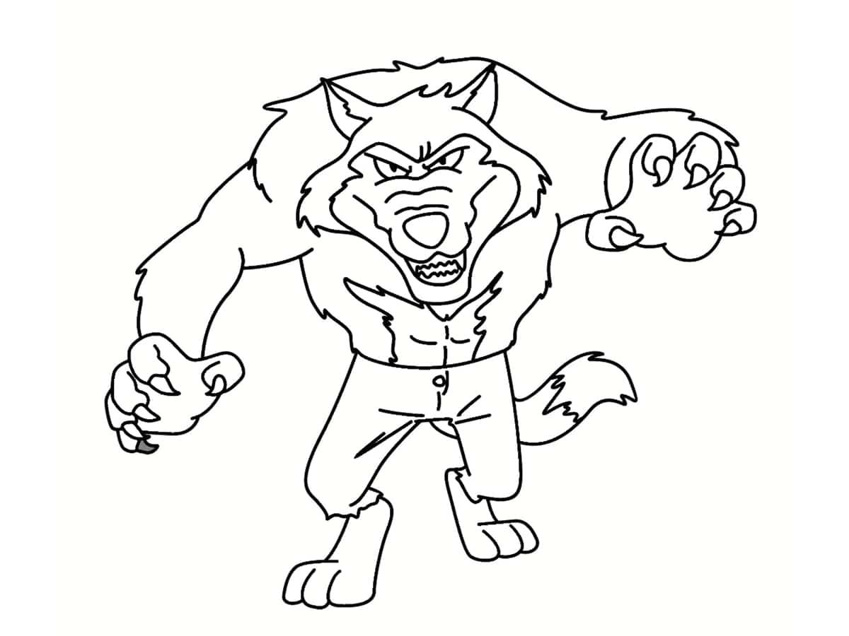 colorier un loup garou