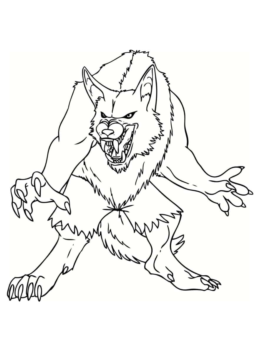 loup garou coloriage