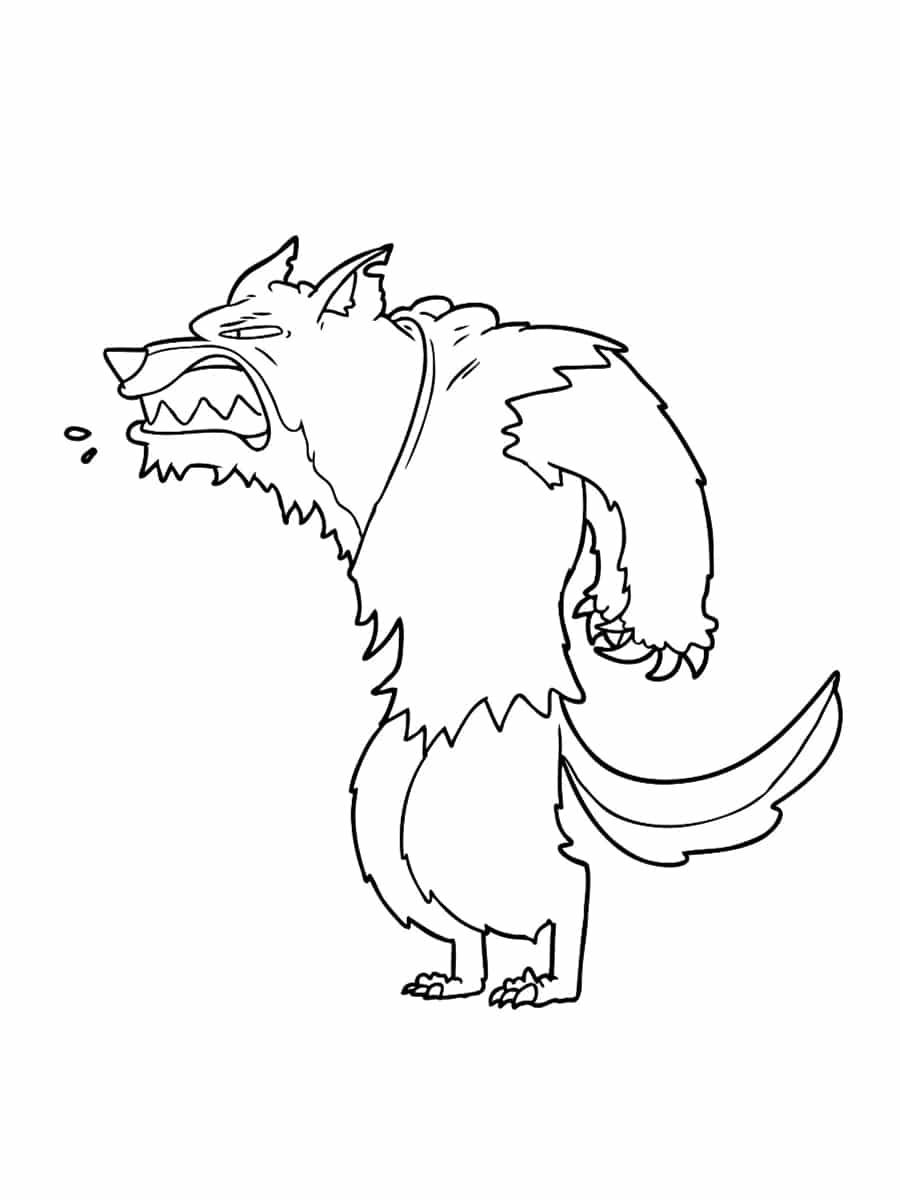 coloriage loup garou