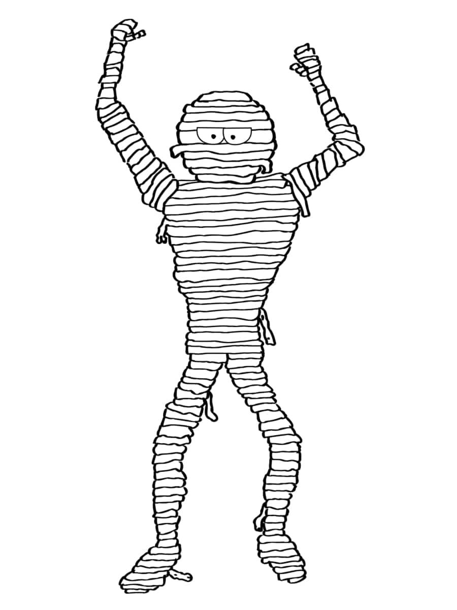 dessin momie