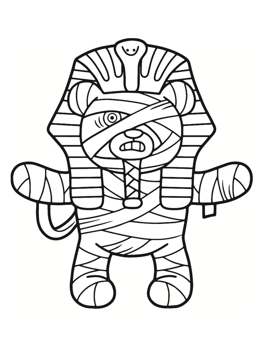coloriage momie egyptienne