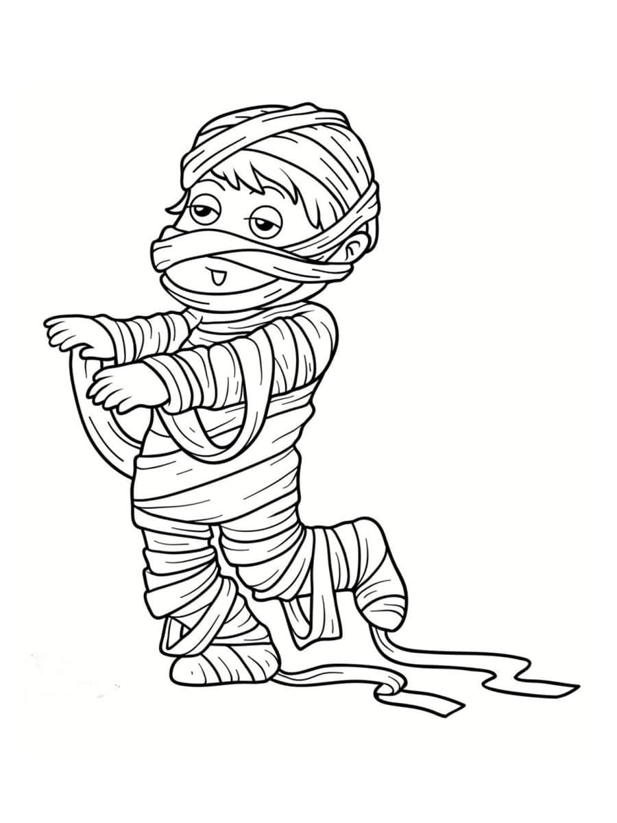 dessin de momie