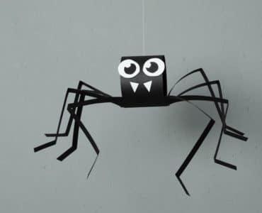 araignée en papier
