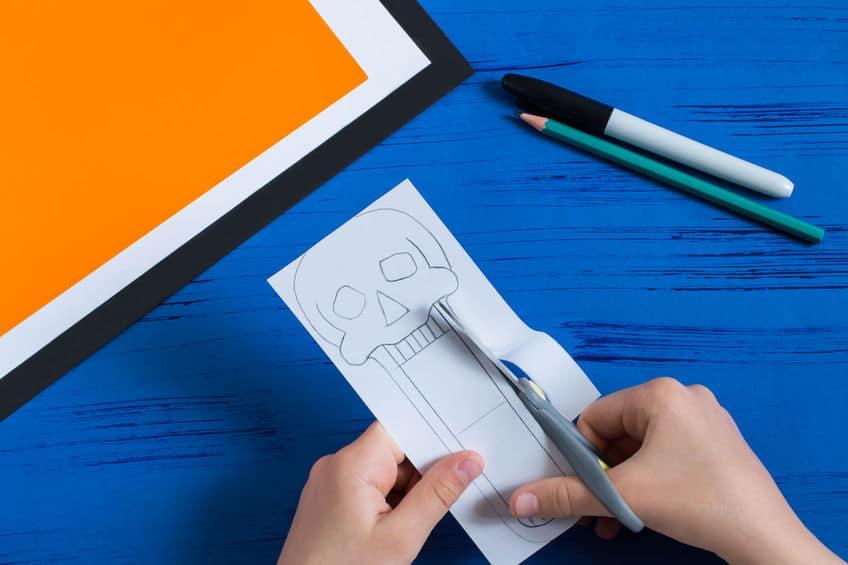 bricolage en papier facile pour halloween