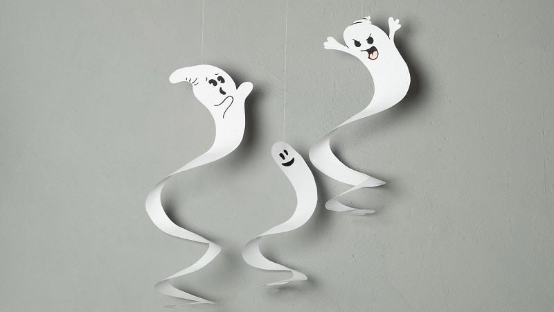 déco fantôme en papier