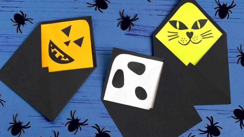 enveloppe halloween fantome