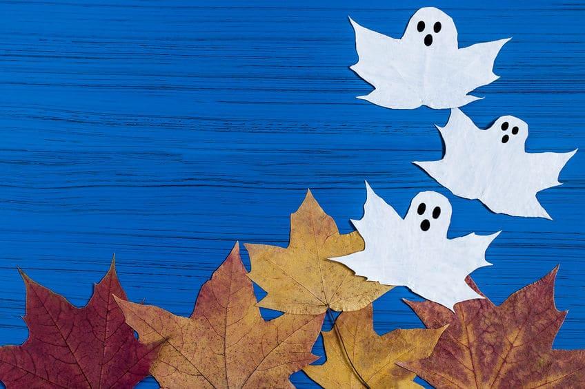 bricolage fantome feuilles