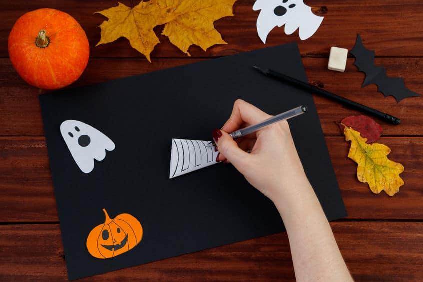 bricolage halloween toile araignée