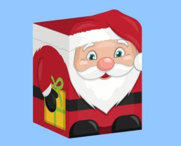 Boîte Père Noël à imprimer