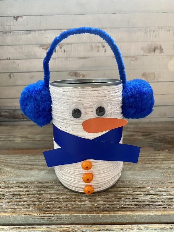 bonhomme de neige boite de conserve