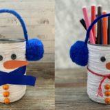 Bonhomme de neige boîte de conserve : bricolage facile