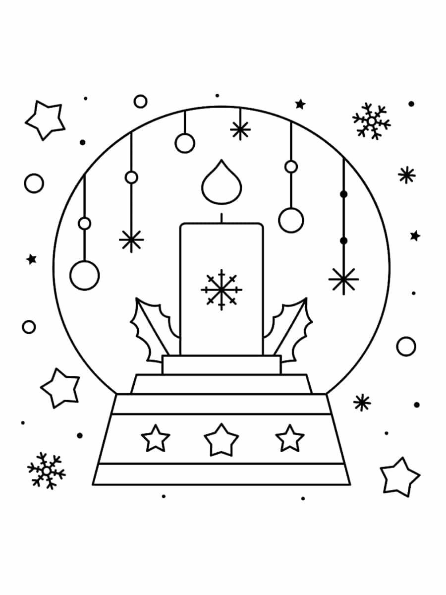 dessin de boule à neige