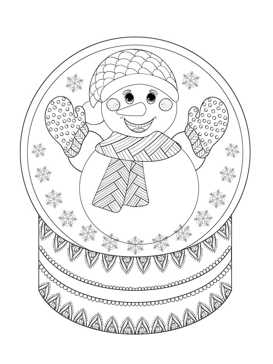 coloriage boule à neige noel
