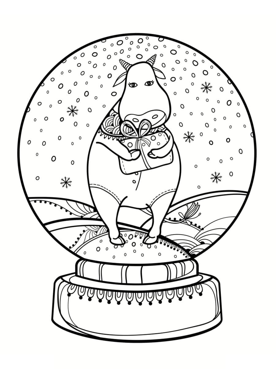 coloriage boule à neige