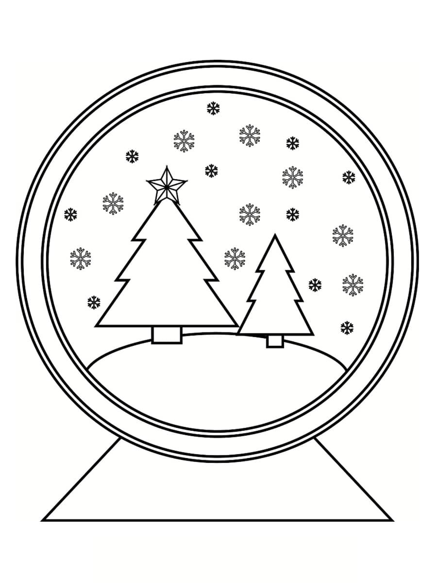 coloriages boule à neige