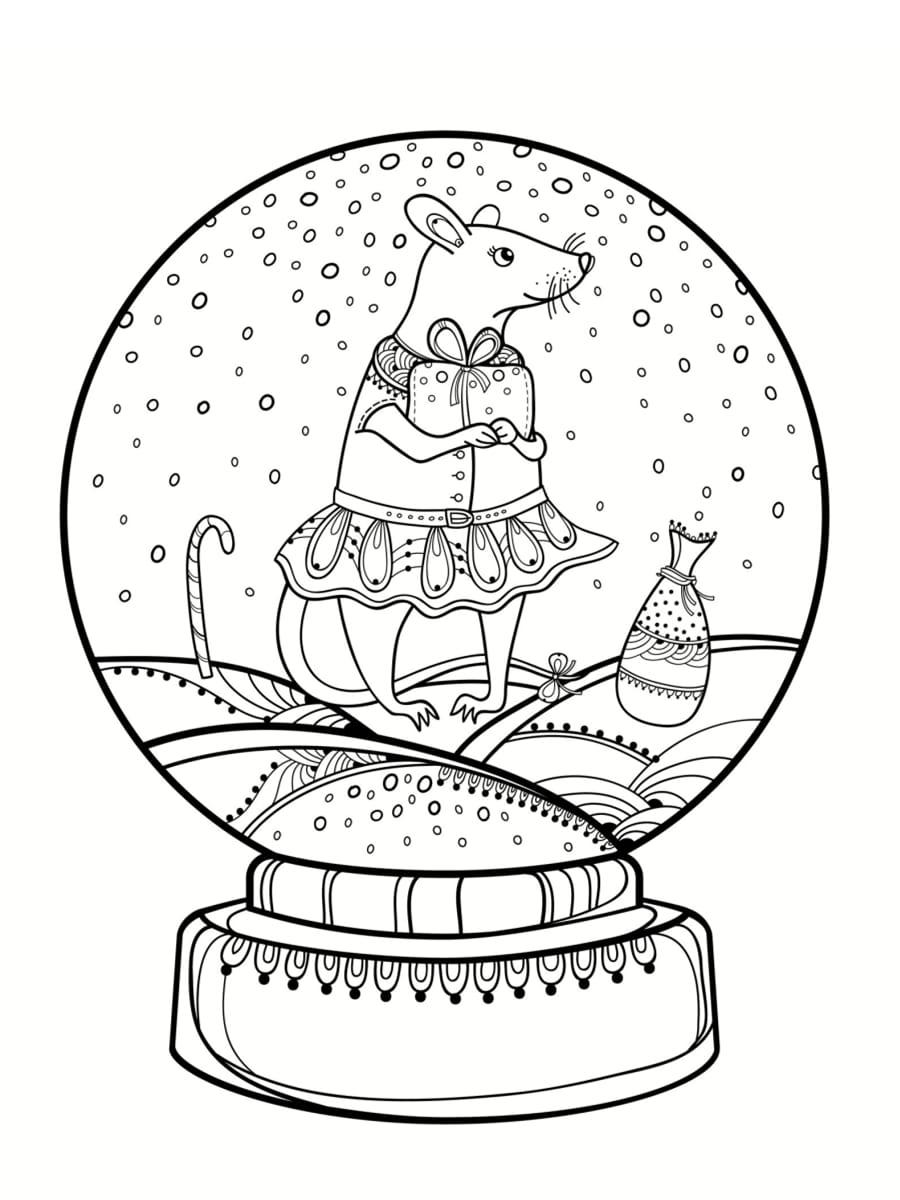 dessin boule à neige