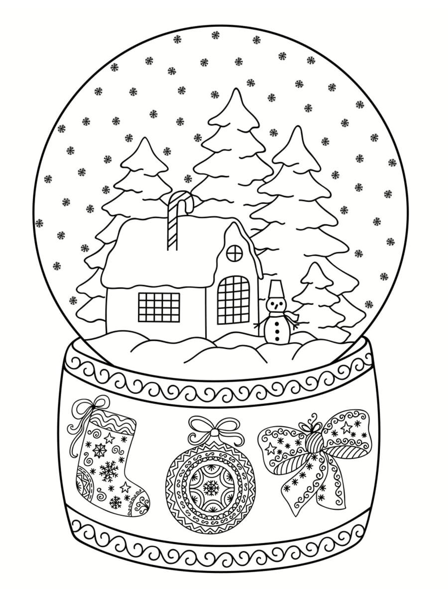 boule à neige dessin