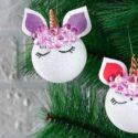 Fabriquer une boule de Noël licorne : bricolage facile