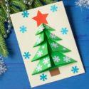 Carte sapin de Noël 3D