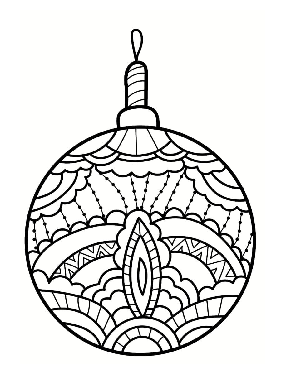 boule de noel à colorier