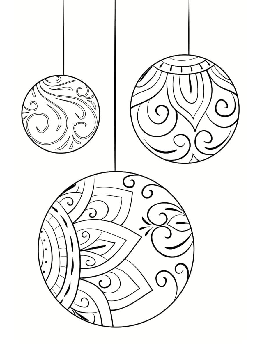 coloriage boules de noel