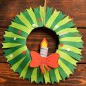 Fabriquer une couronne de Noël en papier : tutoriel en images