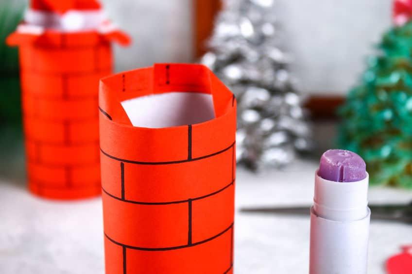 bricolage de noel avec des rouleaux de papier toilette
